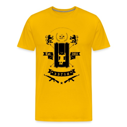 KKL LOGO MUSTA - Miesten premium t-paita