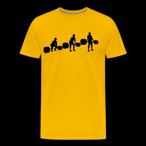 Kreuzheben Sequenz - Männer Premium T-Shirt