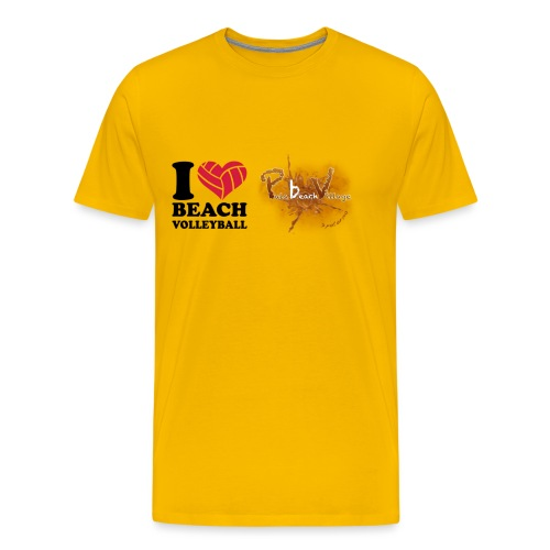 I Love BeachVolley PalaBeach - Maglietta Premium da uomo