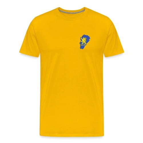 Carte Franche-Comté + lion - T-shirt Premium Homme