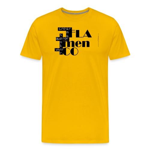 Crucigrama Flamenco - Camiseta premium hombre