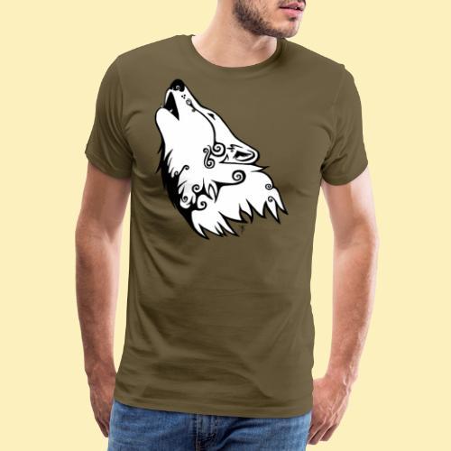 Le Loup de Neved (version blanche) - T-shirt Premium Homme