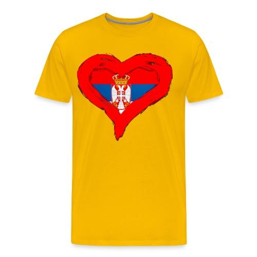 SRBIJA U SRCU - Men's Premium T-Shirt