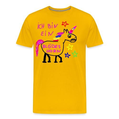 Einhorn blödes Horn - Männer Premium T-Shirt