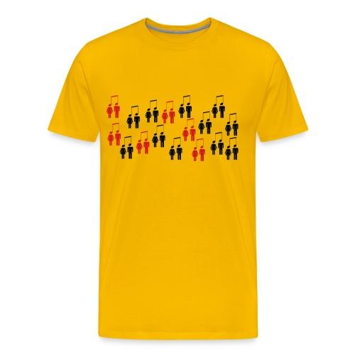 Music connection people png - Männer Premium T-Shirt