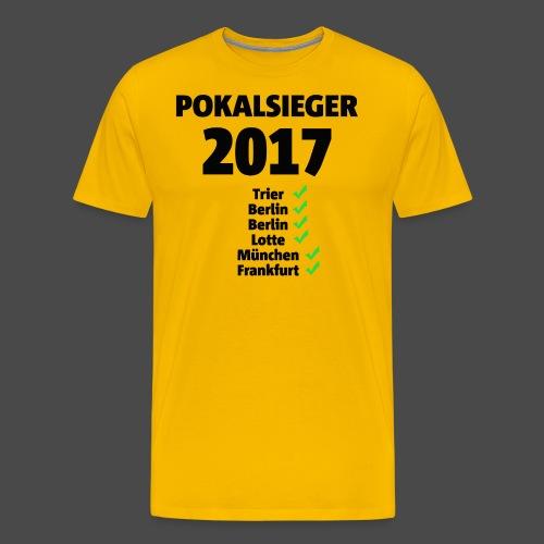 Pokalsieger 2017 schwarz - Männer Premium T-Shirt