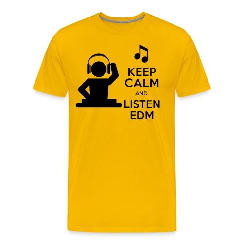 keep calm and listen edm - Men's Premium T-Shirt