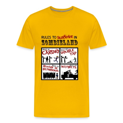 Zombieland rules to survive - Camiseta premium hombre
