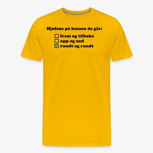 Hjulene på bussen - Premium T-skjorte for menn