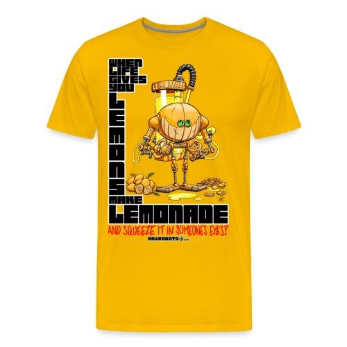 Lemonade Robot!🍋 - Herre premium T-shirt