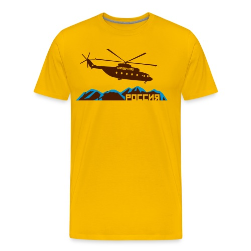 Russian Chopper Helidrop - Men's Premium T-Shirt