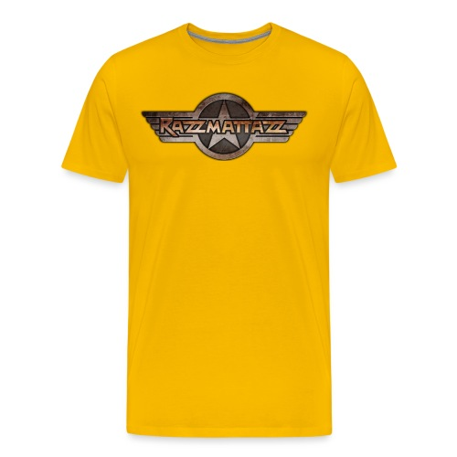Razzmattazz Logo Fluegel und Schriftzug png - Männer Premium T-Shirt