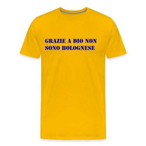 grazie a dio non sono bolognese - Maglietta Premium da uomo