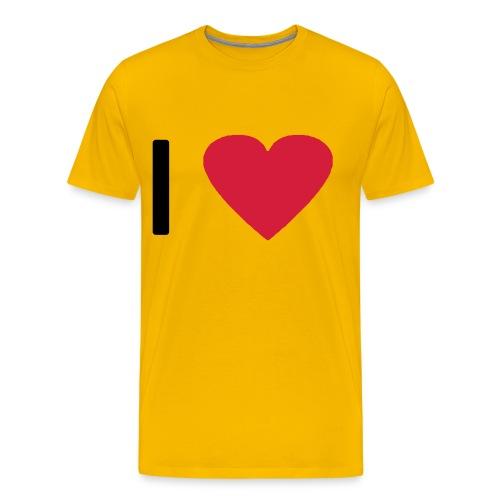 I love - Heart (modern) - Männer Premium T-Shirt