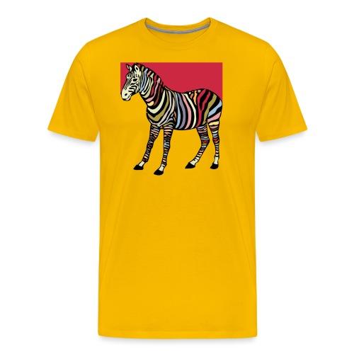 zebra tshirt design - Men's Premium T-Shirt