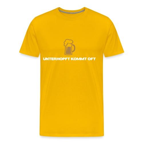Unterhopft kommt oft - Männer Premium T-Shirt