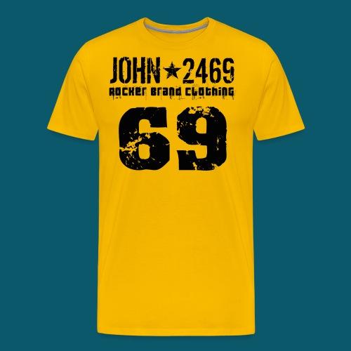john 2469 numero trasp per spread nero PNG - Maglietta Premium da uomo