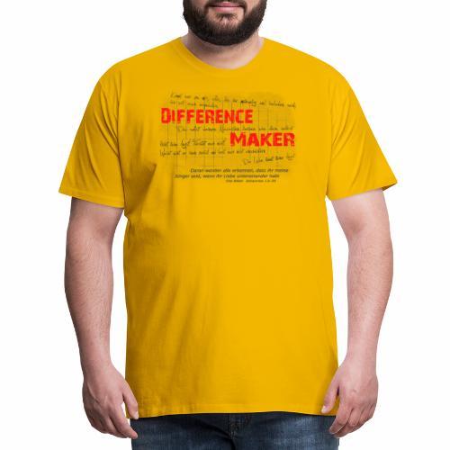 Difference Maker dunkel - Männer Premium T-Shirt