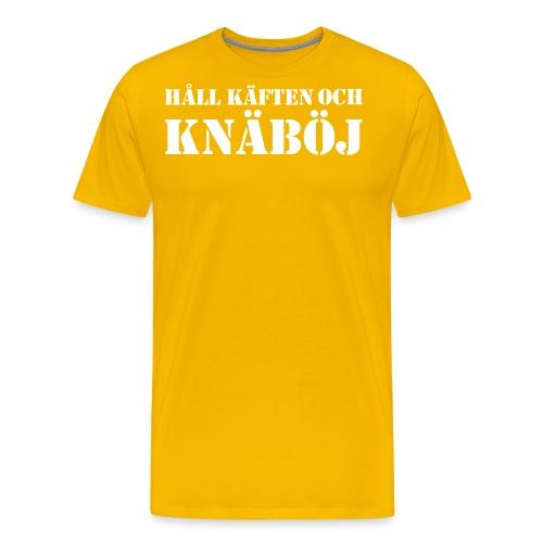 Håll käften och knäböj - Premium-T-shirt herr