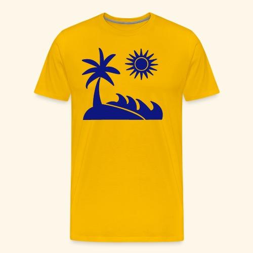 Palme, Meer, Sonne, Strand - Männer Premium T-Shirt