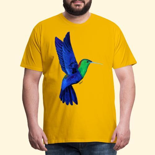 Colibri bleu et vert - T-shirt Premium Homme