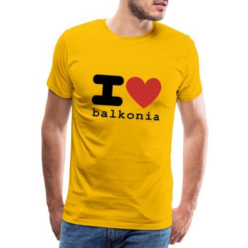 I love Balkonia - Mannen Premium T-shirt