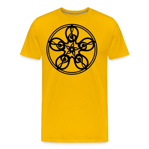 CELTIC CLEF MANDALA (black) - Men's Premium T-Shirt