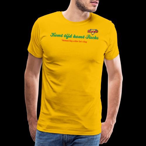 Komt tijd komt Rocks - Mannen Premium T-shirt