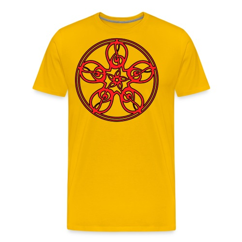 CELTIC CLEF MANDALA (red/black outline) - Men's Premium T-Shirt