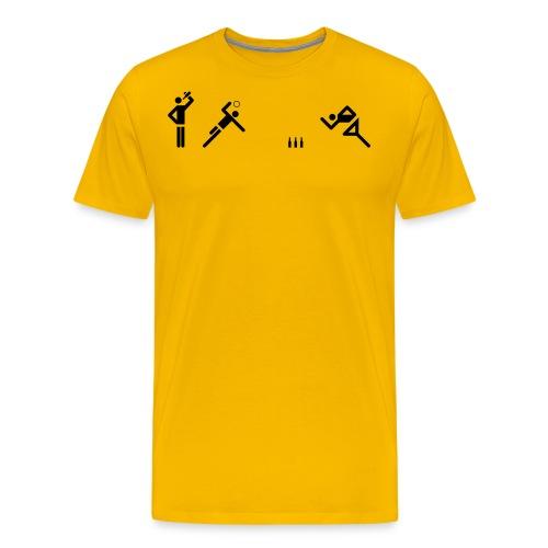 Flunkyball (groß) - Männer Premium T-Shirt
