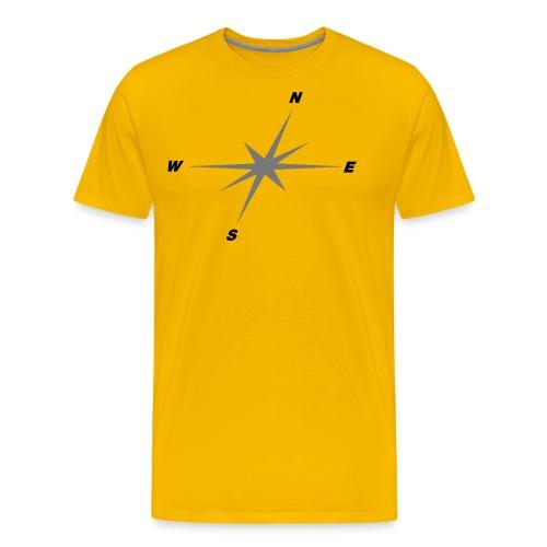 Kompassrose - Männer Premium T-Shirt