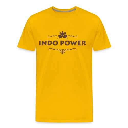 indo lotus1 - Mannen Premium T-shirt