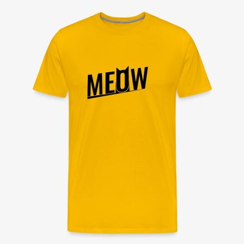Meow black - Koszulka męska Premium