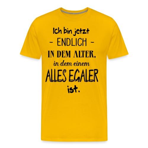 Geburtstag Geschenk Alter Egaler Spruch Lustig - Männer Premium T-Shirt