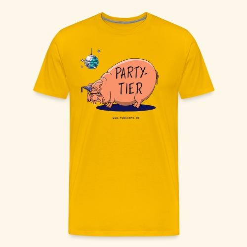 Partytier Schwein Fete Feier Party Sau - Männer Premium T-Shirt