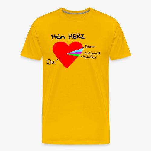 Herz Tortendiagramm 3 - Männer Premium T-Shirt