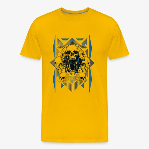 T-shirt de crâne Jual Kaos Hipster - T-shirt Premium Homme