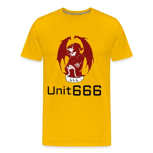 Unit 666 Front Print with text type 2. - Men's Premium T-Shirt