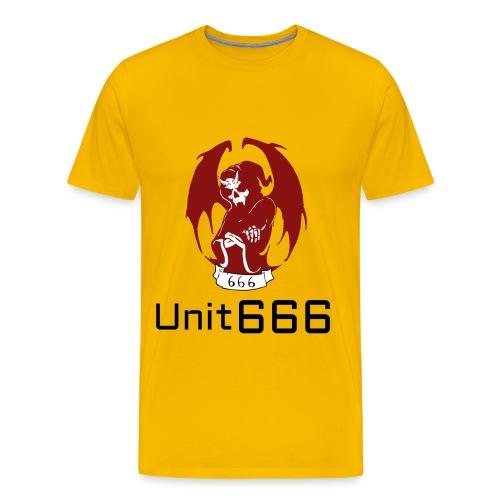 Unit 666 Front Print with text type 2. - Men's Premium T-Shirt