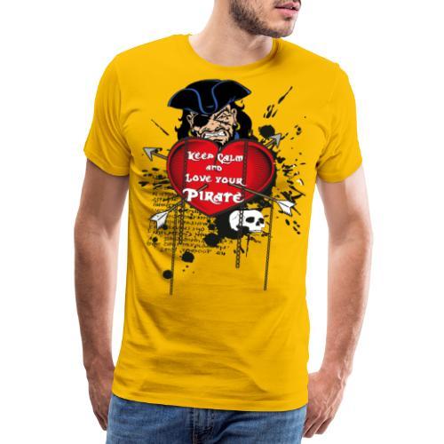 love your pirate - Maglietta Premium da uomo