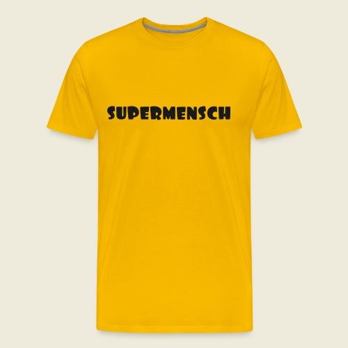 Supermensch in schwarz 2 - Männer Premium T-Shirt