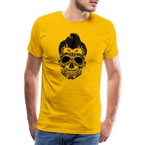 Totenkopf Elvis - Männer Premium T-Shirt