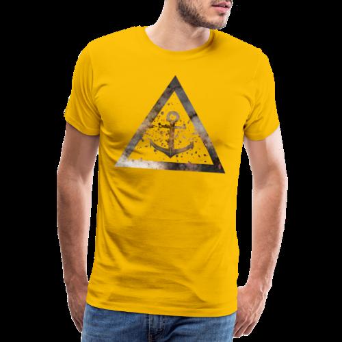 Galaxy Anchor Geometry Triangle - Männer Premium T-Shirt