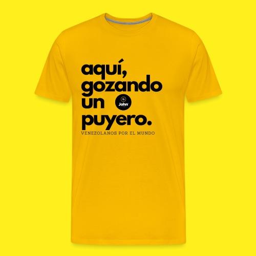 aqui gozando un puyero - Camiseta premium hombre