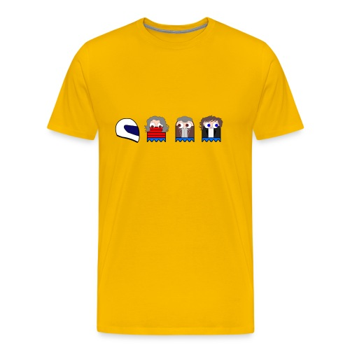 Top Gear Pac man Ghosts - Men's Premium T-Shirt