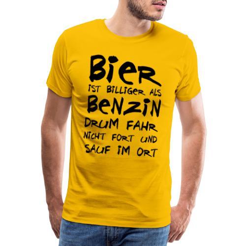 Bier ist Billiger - Männer Premium T-Shirt