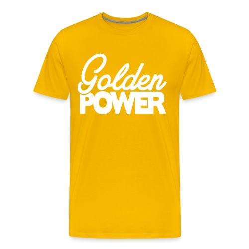 GoldenPower Logo V2 white png - Mannen Premium T-shirt