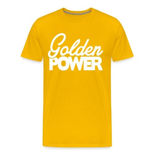 GoldenPower Logo V2 white png - Mannen Premium T-shirt