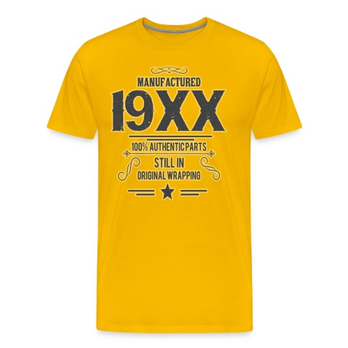 manufacture 19XX Vintage Funny Birthday t-shirt - Männer Premium T-Shirt