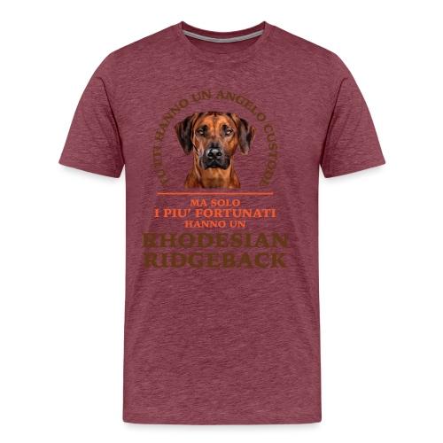 Rhodesian Ridgeback Angelo Custode Giallo - Maglietta Premium da uomo